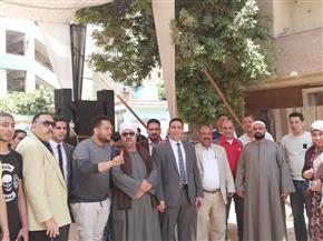 """الناخبون يواصلون الإدلاء بأصواتهم في الاستفتاء على تعديلات الدستور بـ""""الهرم"""""""