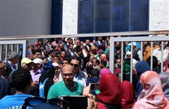 مسيرة لطلاب جامعة دمنهور لحث المواطنين على المشاركة في الاستفتاء