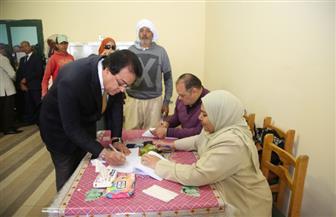 وزير التعليم العالي يدلي بصوته في الاستفتاء على التعديلات الدستورية |صور