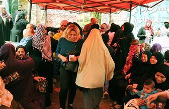 توافد كبير من الناخبين على لجان الهرم وسط هتافات للرئيس السيسي وتأييد التعديلات الدستورية