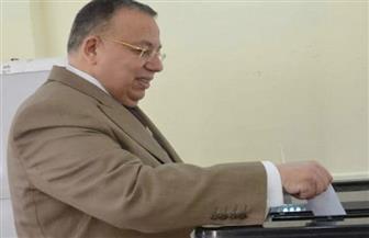 وكيل البرلمان يدلي بصوته في الاستفتاء على التعديلات الدستورية بمصر الجديدة