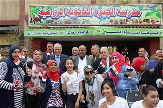 محافظ الجيزة يتابع سير العملية الانتخابية في بولاق الدكرور والهرم والعمرانية