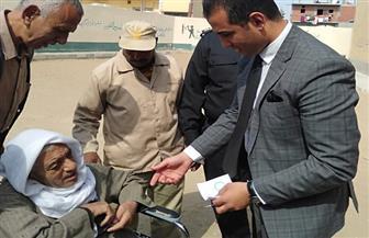 قاض ينتقل لأحد المسنين خارج لجنته بالإسماعيلية للاستفتاء على التعديلات الدستورية
