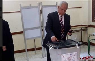 إقبال على التصويت بلجنة الشهيد العقيد وليد محمود بحمامات القبة بالقاهرة