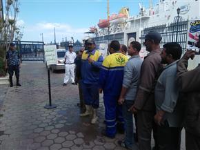إقبال كبير على لجان المغتربين داخل ميناء الإسكندرية