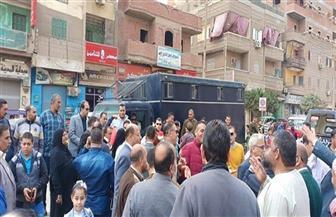مسيرة طلابية تجوب الشوارع وكراسي متحركة لكبار السن في لجان كفرالشيخ