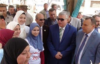 مساعد وزير الداخلية ومدير أمن المنوفية يتفقدان قوات تأمين الاستفتاء على التعديلات الدستورية | صور