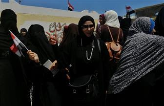 إقبال كثيف من المواطنين على لجان الاستفتاء بجنوب سيناء