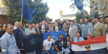 رئيس جامعة القناة يتقدم مسيرة طلابية لدعم التعديلات الدستورية في شوارع الإسماعيلية
