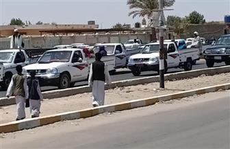مسيرة بالسيارات تجوب شوارع الشلاتين لدعم التعديلات الدستورية   صور