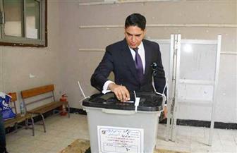 أبوهشيمة يدلي بصوته في استفتاء التعديلات الدستورية بمصر الجديدة