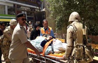 محافظ الغربية يوجه بنقل مسنة للجنة الاستفتاء بطنطا فى سيارة إسعاف | صور