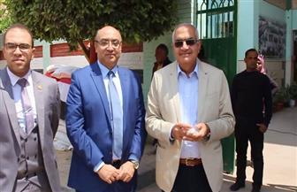 رئيس جامعة المنصورة يدلي بصوته في الاستفتاء على التعديلات الدستورية