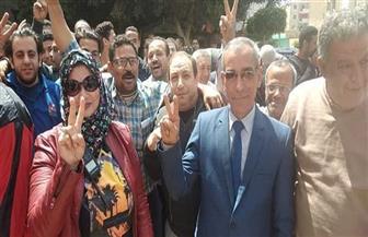 إقبال كبير على لجان الاستفتاء على التعديلات الدستورية بمدينة قها | صور