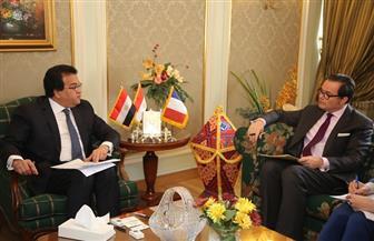 وزير التعليم العالي يستقبل السفير الفرنسى بالقاهرة | صور