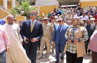 محافظ سوهاج وقائد المنطقة الجنوبية ومساعد وزير الداخلية يتفقدون لجان الاستفتاء | صور