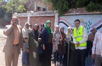 ميسرو محو الأمية بسوهاج يتوجهون مع الدارسين للإدلاء بأصواتهم في الاستفتاء | صور