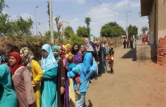 إقبال كبير من السيدات على لجان التصويت بالقناطر الخيرية | صور