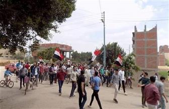 مسيرات حاشدة في شوارع منشأة القناطر لحث المواطنين على المشاركة في استفتاء التعديلات الدستورية | صور