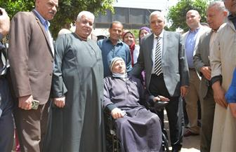 محافظ الدقهلية يتفقد لجان الاستفتاء بمركز ومدينة أجا
