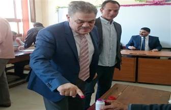 السيد البدوى يدلى بصوته فى الاستفتاء على التعديلات الدستورية في لجنة للوافدين بالمنوفية | صور