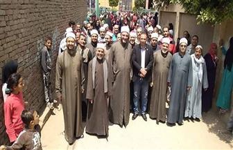 الأئمة والمعلمون يقودون مسيرات لتأييد التعديلات الدستورية بمنشأة القناطر| صور