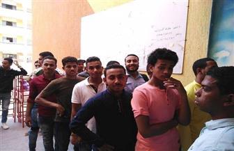 طلاب كلية التربية النوعية بجامعة أسوان يشاركون في الاستفتاء على التعديلات الدستورية