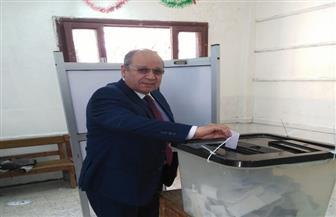 رئيس مجلس الدولة يدلي بصوته فى الاستفتاء على التعديلات الدستورية| صور