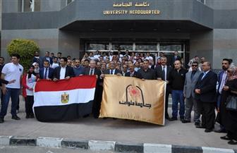 إقبال كبير من موظفي جامعة حلوان على الاستفتاء بالتعديلات الدستورية | صور