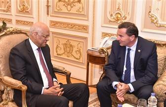 """ممثل الفرنسيين بالخارج يشيد بنزاهة """"الاستفتاء على التعديلات الدستورية"""""""" في اجتماعه مع عبد العال"""