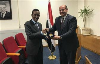 وزير الخارجية الصومالي يزور معهد الدراسات الدبلوماسية المصري| صور