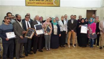 """تكريم الإدارات الحاصلة على شهادة """"الأيزو"""" بجامعة الزقازيق"""