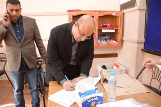 """في آخر أيام التصويت.. نائب محافظ بورسعيد يدلي بصوته في الاستفتاء بـ""""أشتوم الجميل"""""""