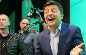 النتائج شبه النهائية تشيرإلى فوز ممثل كوميدي برئاسة أوكرانيا