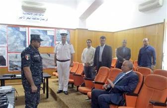 محافظ البحر الأحمر يتفقد غرفة عمليات المحافظة لمتابعة تأمين الاستفتاء |صور