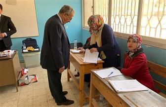 عمرو موسى وقرينته يدليان بصوتيهما في الاستفتاء على التعديلات الدستورية | صور