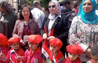 """""""وكيل تعليم سوهاج"""" يقود مسيرة لحث المواطنين على المشاركة في الاستفتاء  صور"""