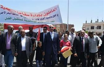 محافظ البحر الأحمر يتفقد لجان الاستفتاء على التعديلات الدستورية بمدينة سفاجا