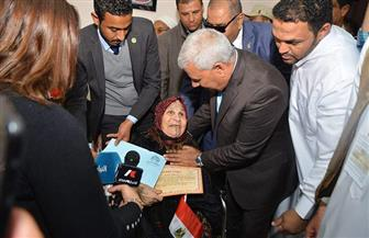 محافظ مطروح يكرم معمرات السلوم المشاركات في الاستفتاء على التعديلات الدستورية | صور