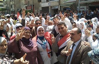 وكيلة التعليم بكفر الشيخ تقود ثاني مسيرة لها اليوم بمشاركة العاملين بالمديرية والطلاب | صور