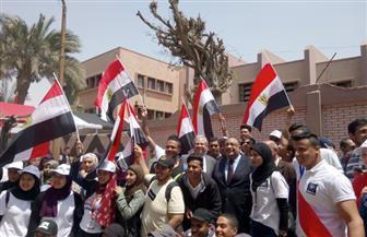 لليوم الثالث على التوالي.. جامعة حلوان تحتشد للمشاركة في الاستفتاء على الدستور | صور