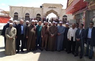 مسيرة لعلماء وأئمة وخطباء الأوقاف بمركز بيلا وقرية إبشان في آخر أيام الاستفتاء   صور
