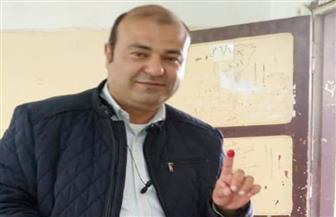 """خالد حنفي يدلي بصوته في لجنة المغتربين بمدينة """"6 أكتوبر"""""""