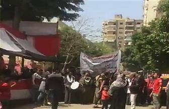 مسيرة بالطبل والمزمار لحث المواطنين على المشاركة في الاستفتاء بسمنود | صور