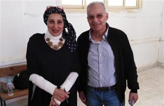 عبدالعزيز عبدالشافعى يدلي بصوته في الاستفتاء على التعديلات الدستورية بـ6 أكتوبر