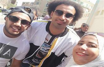 """علي ربيع و""""أوس أوس"""" يدليان بصوتيهما على التعديلات الدستورية في الشيخ زايد"""