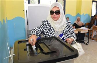 عفاف شعيب تدلي بصوتها في الاستفتاء على التعديلات الدستورية بالمهندسين | صور