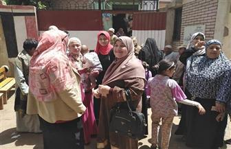 سيدات المنوفية يحتشدن أمام لجان الاستفتاء على التعديلات الدستورية | صور