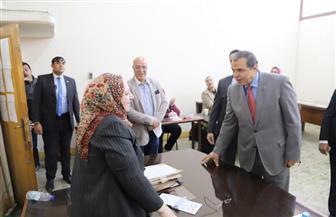 سعفان يتفقد لجان الاستفتاء على الدستور بالجامعة العمالية | صور