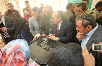محافظ كفرالشيخ يتفقد لجان الاستفتاء على التعديلات الدستورية في سيدي سالم | صور